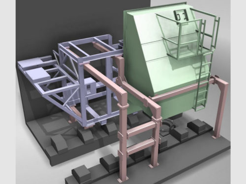 3D rendering of a large steel fabrication which we designed and built.