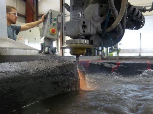 Aquajet services 7 inch thick ingot