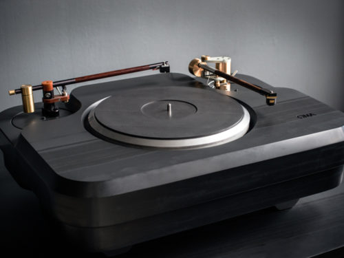Turntable plinths for Oswald's Mill Audio, waterjet cut out of thick gray slate. We do all of OMA's slate cutting.