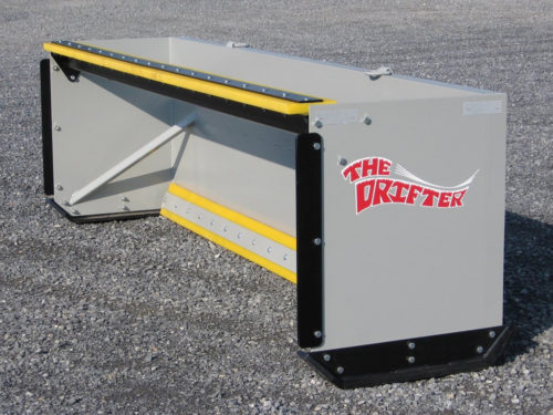 We designed and built a number of these snow pushers, ranging from 6' wide to 20' wide.