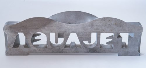 Aquajet services 5 axis waterjet morphed letters