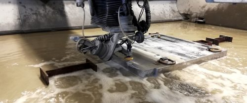 waterjet cutting thick stainless steel